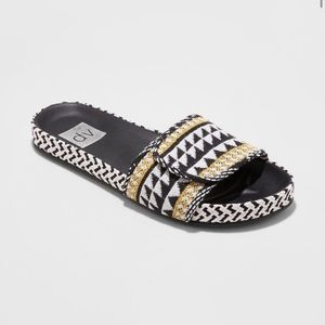 Dolce Vita Woven Slide Sandals